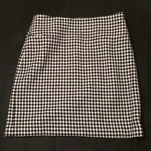 Talbots Houndstooth Pencil Skirt Size 6P